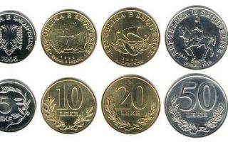 Албанская валюта Leke