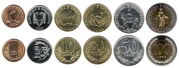лек монеты в албании